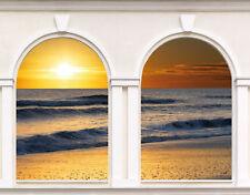 Sticker trompe l'oeil 2 Arches couché de soleil