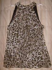 B.Wear NWT animal print top w ruffles, lined, small junior girl