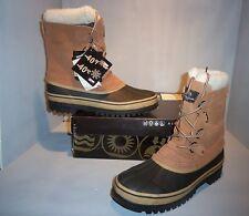 Therma by Weatherproof Men's Polar Tan Beige Snow Boots SIZES! NIB Waterproof