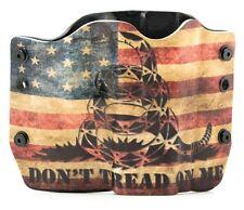 OWB Kydex Gun Holsters, Don't Tread On Me Snake Flag for Glock Handguns