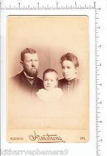 5275 Cabinet photograph Armstrong photographer 1890 Washington IA Dudley Meacham