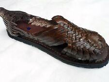 Genuine Leather Dark Brown Man Huarache Pachuco. Mexican Sandals.