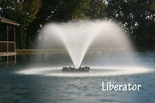 1 1/2HP Turtle Fountain Liberator  Floating Lake and Pond Aerator w/Lights (USA)