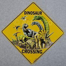 DINOSAUR CROSSING-Crosswalks Metal 12 X 12 T REX JURASSIC Warning Caution Sign