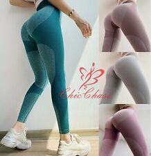 Women's Seamless Leggings Gym Contour Pants Yoga Running Training Sport Fitness
