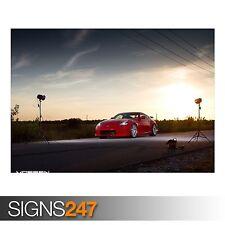 NISMO 370Z - VOSSEN VVS-CV2 (AB155) CAR POSTER - Poster Print Art A0 A1 A2 A3