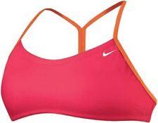 NIKE Perfect Solid Top Skimpy Briefs Pink Orange 2pc Bikini Swim Suit Womens XL