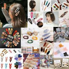 Fashion Girl Acrylic Resin Hair Clip Barrette Bobby Pin Hairpin Hair Accessories