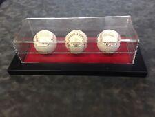 Triple Baseball Display, Wall Mount Baseball Display Case Horizontal or Vertical
