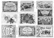 Meubles Décalque Transfert de l'Image Vintage Shabby Chic Noir étiquettes anciennes publicités