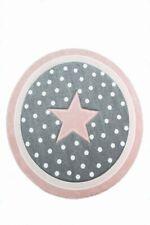 Tapis pour enfants Tapis de maternité Tapis de sol rond Star en Rose Gris Blanc