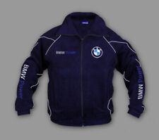 Neu Fleece Jacke BMW Power Sport, Herren Bestickt Fan Artikel Blau, Gr. S-XXXL