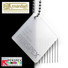 Acrylic Perspex® Polar White Frost Plastic Cut Sheet - Cut Panel