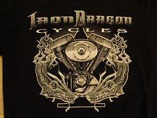 BLACK IRON DRAGON CYCLES NO BOUNDARIES MOTORCYCLE  T Shirt ADULT M  FREE US SHIP