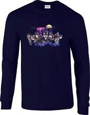Wolf Pack Wolves Lightning Night Hunt Moon Long Sleeve T-Shirt