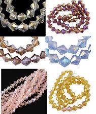 Galvanizado cristal esmerilado perlas joyas perla bastelperle electroplated vidrio