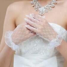 White/Ivory Bride Wedding Gloves Short Paragraph Korean Lace Accessories Glove