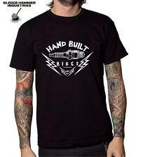 HRC HAND BUILT BIKES MOTORCYCLE T SHIRT, CAFE RACER, BOBBER, MEN'S T SHIRT,