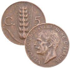 ITALY ITALIA 5 Centesimi 1920-1936 KM#59 Vitorio-Emanuele III - Choose Your Date