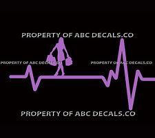 VRS Heart Beat Line SHOPPING Girl Shoes Bag Makeup Dress Jewelry CAR VINYL DECAL