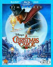 Charles Dickens Jim Carrey Scrooge Disney Animated A Christmas Carol Blu-ray DVD