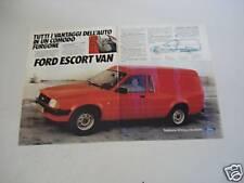 advertising Pubblicità 1981 FORD ESCORT VAN