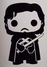 Game of Thrones Jon Snow Funko Pop Insp. Vinyl Decal Laptop Car Yeti Window