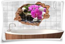 Fliesenaufkleber Fliesenbild Fliesenaufkleber Wanddurchbruch Wellness Blume Bad