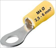 Câble avec pattes jaune 2,5 -6 mm² COSSE ANNEAU M4 ø 4mm SERTIR FORME D'anneau