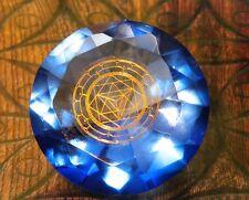 Tachyonen Diamant Merkaba blau 45 Energie Heilige Geometrie Michael 6. Chakra