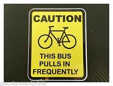 La prudence/ce bus attire fréquemment-imprimé autocollant autocollant-choix de tailles
