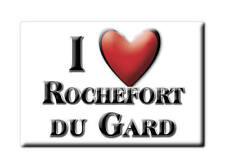 MAGNETS FRANCE LORRAINE CALAMITA SOUVENIR AIMANT I LOVE ROCHEFORT DU GARD (30)--