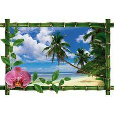 Sticker Bambou déco mer et palmier 973
