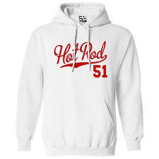 Hot Rod 51 HOODIE - Hooded 1951 Custom Pickup Coupe Car Sweatshirt - All Colors