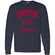 Houston Classic Football Arch Unisex Long Sleeve T-Shirt