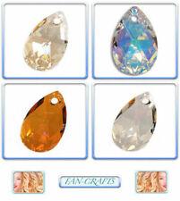 Swarovski Crystal Pendant 6106 Pear-shaped Drop 28mm & 38mm *Many Colours*