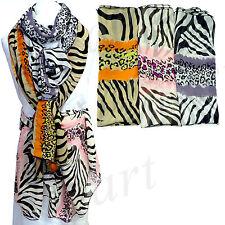 New Women's Chiffon Scarf Scarves Shawl Wrap zebra print 3 colors