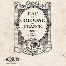 Water Decal Print Transfer –Vintage French Advert: Perfume Eau de Cologne #021