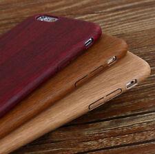 Espalda madera Gel Funda en roble, nogal o mahoghony, Apple iPhone SE y pantalla