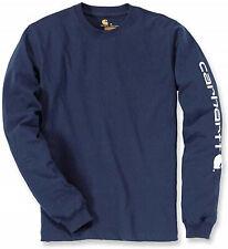 Carhartt t-shirt Logo Long Manche T-shirt ek231 Navy