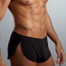 Sexy Men's Silk Smooth Underwear Boxer Night Wear Household Sleeping Underpants