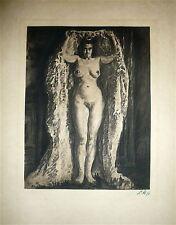 Louise HERVIEU gravure signée erotic