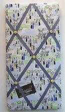Edwardian Femmes Tissu Couvert, Boîte encadrée, message/Pin/avis/Memo Board