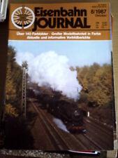 Eisenbahn Journal 8 1987 -- Uber 140 Farbbilder