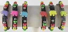 Amazing Elephant Slider Bracelets Assorted Colors Surfer Closing Unisex