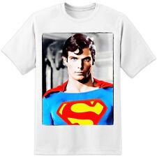 T-SHIRT SUPERMAN Christopher Reeve Film Retrò-STAMPA ENORME! Zod Ming BATMAN