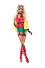 Sexy Starline Sidekick Robin Super Hero Romper 6pc Costume #S5138