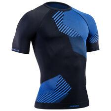 Tervel Optiline Hemd Korte Mouw Heren Outdoor Sportschool Joggen Zwart/Blauw