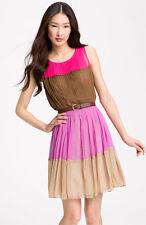 Julie Dillon Colorblock Chiffon Dress (size14)