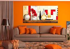 3D Red Art Flower  Wall Stickers Vinyl Murals Wall Print Decal Deco Art AJ STORE